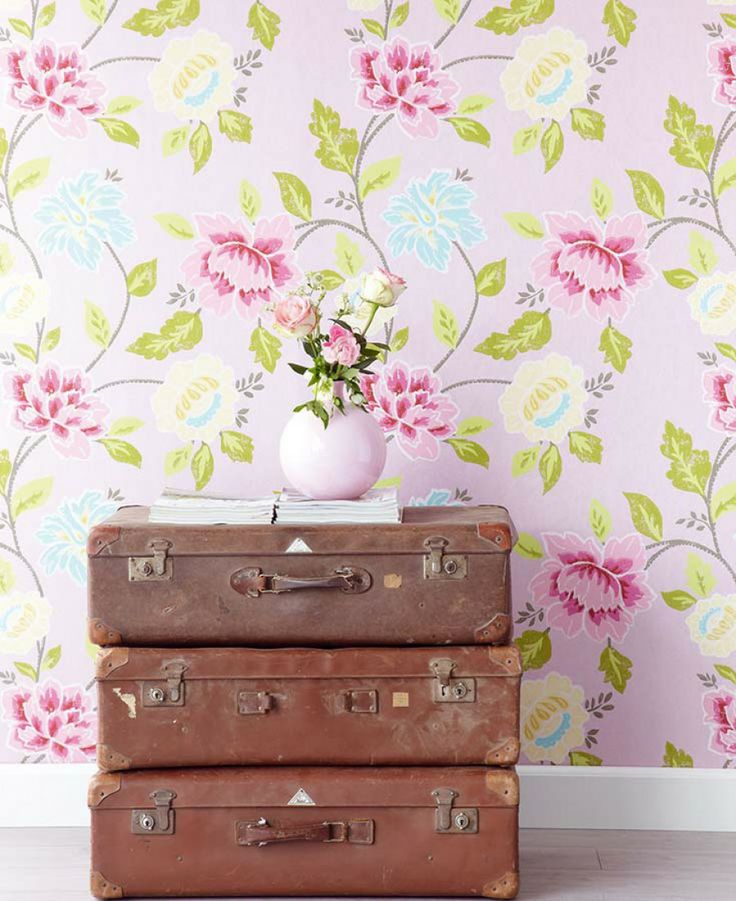 papel floral paredes