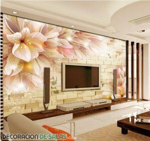 Ideas de papel tapiz para decorar tu salón