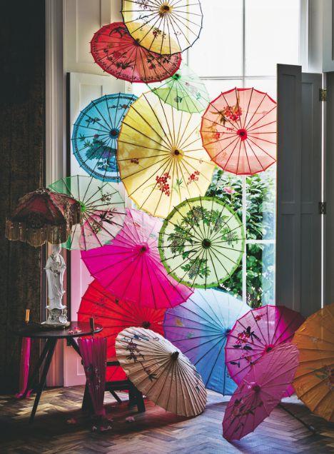paraguas orientales para decoración
