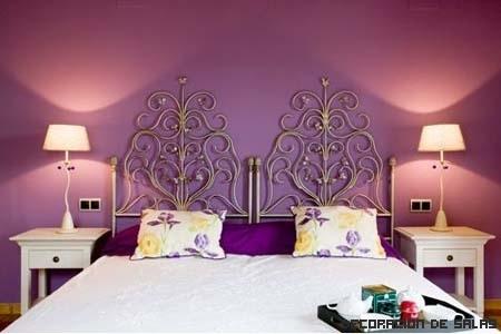 Crea tu propio dormitorio violeta