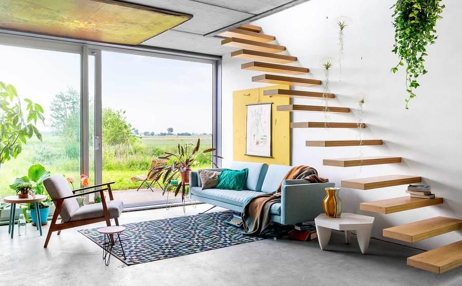 Decorar espacios abiertos sin divisiones en una casa