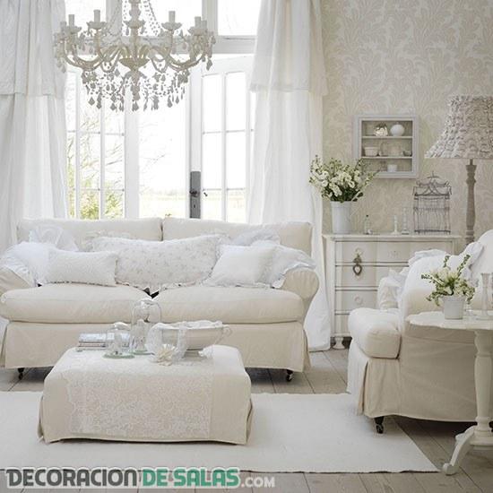 Pequeñas salas decoradas gracias al color blanco