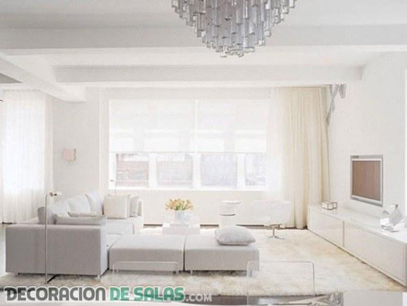 Salas relajantes gracias al color blanco