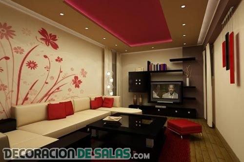 El color rojo y el chocolate protagonizan estos salones