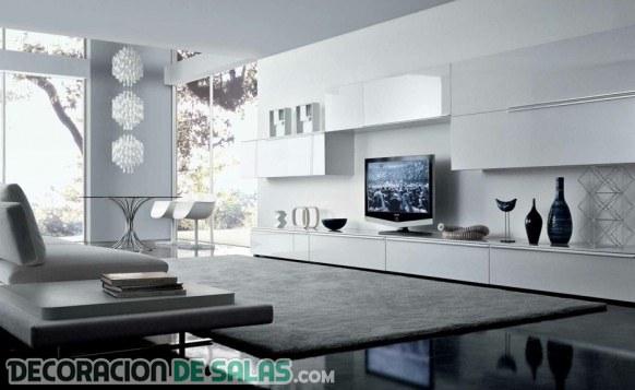 Descubre estas salas minimalistas tan modernas