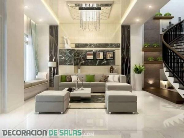 Diferentes diseños de salas minimalistas