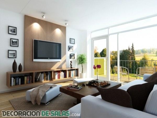 Salas modernas con una decoración sencilla