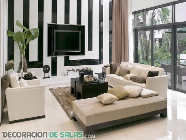 Salas pequeñas y su decoración moderna