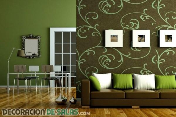 Salas en verde muy elegantes y modernas
