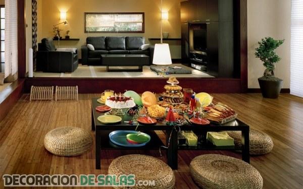 Salones con estilo asiático