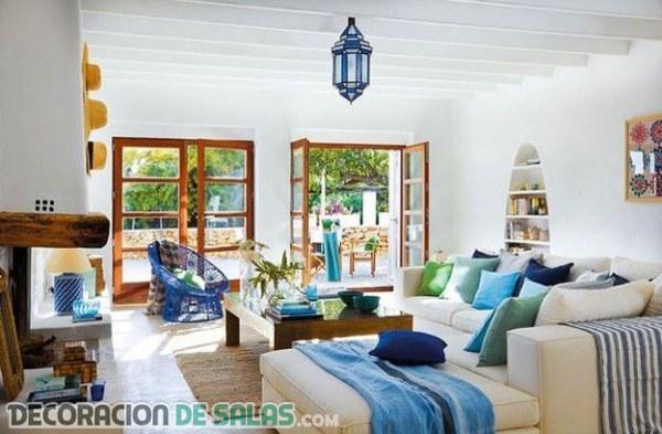 3 salones con decoración mediterráea