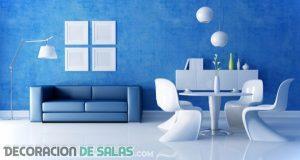 Blanco y azul para tu salón más veraniego