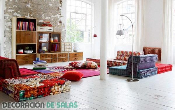 Salones con ligera decoración de estilo casual