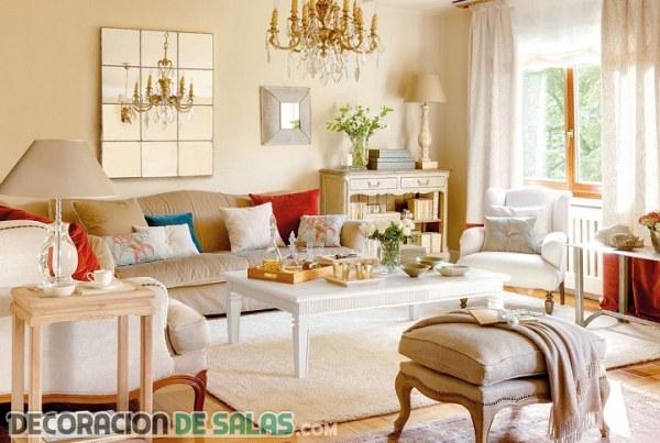 Salones luminosos en color beige