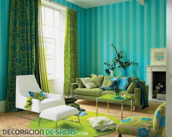 Dos colores principales para tu salón