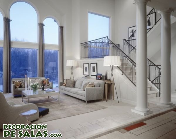Salones con columnas decoraci n de salas - Decoracion columnas salon ...