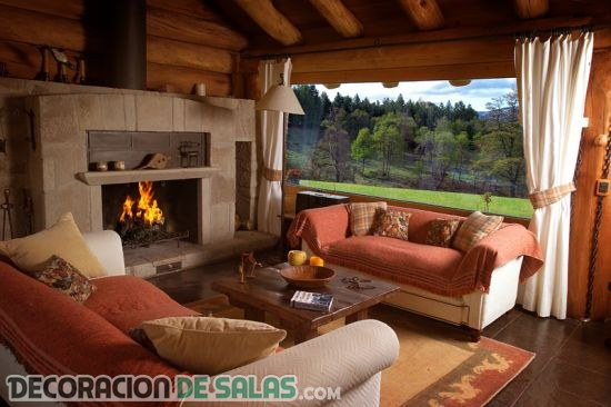 Salones decorados con estilo country