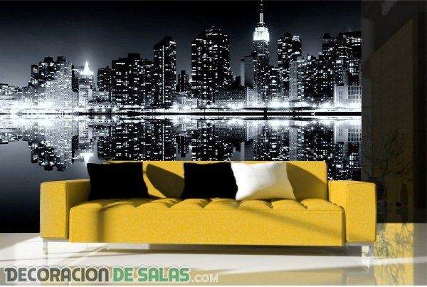ideas para decorar paredes con fotomurales