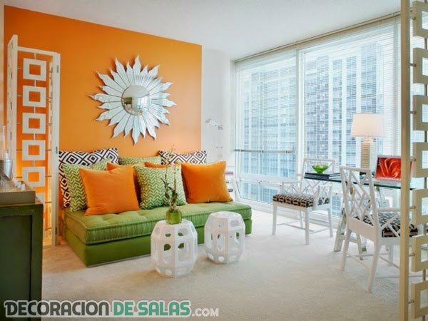 Salones en color naranja para tu hogar
