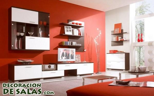 Paredes en color rojo para salones