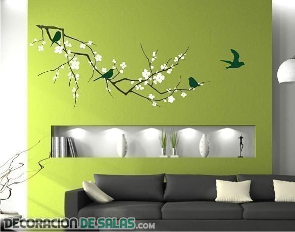 Salones modernos decorados con vinilos