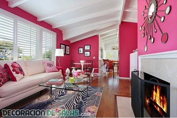 Cuando el color rosa llega a la decoración del salón