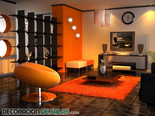 Descubre estos salones en color naranja