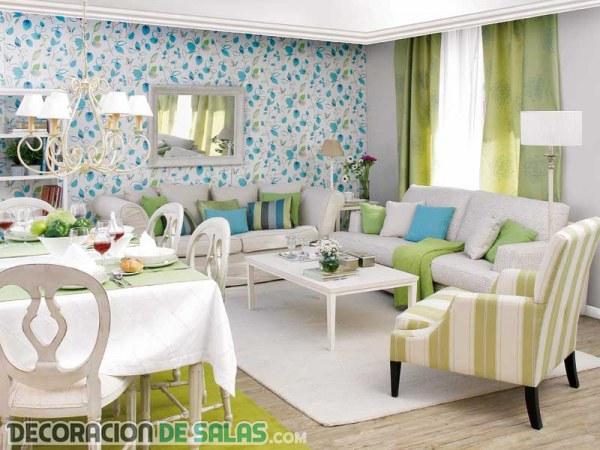 Decorar salones cuadrados muy modernos