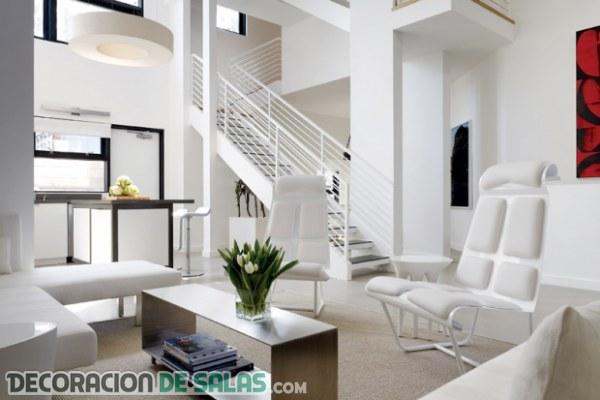 Cómo decorar un salón en color blanco