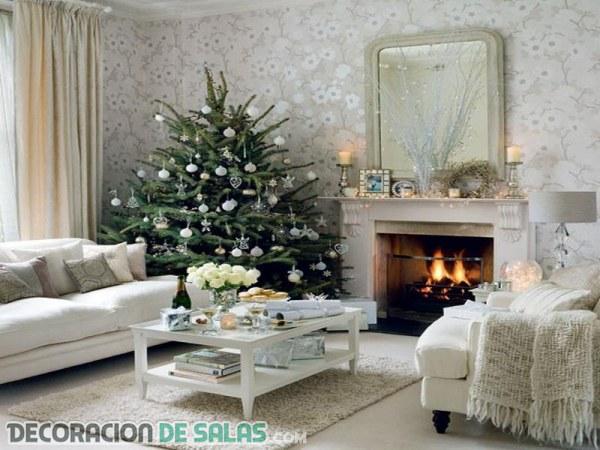 Ideas de salones decorados para Navidad