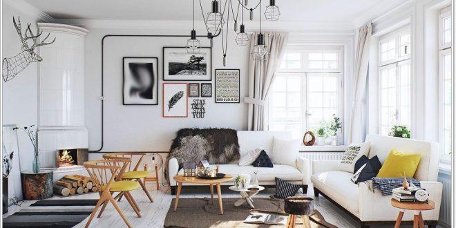 Decoración con colores neutros y cálidos en interiores del hogar