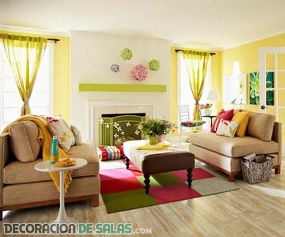 Ejemplos de salones más alegres a todo color