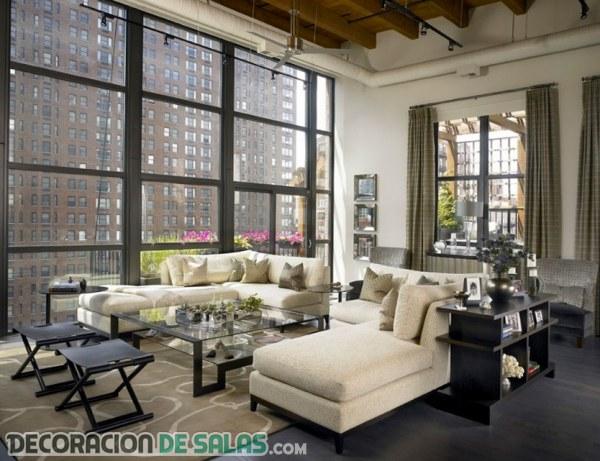 Salones modernos con estilo urbano