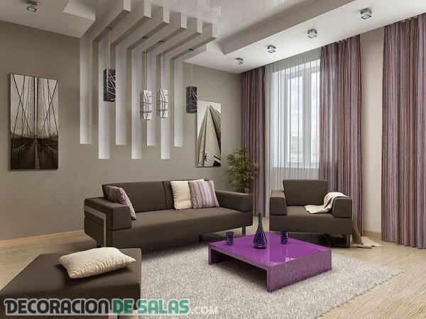 Salones modernos y clásicos con falsos techos