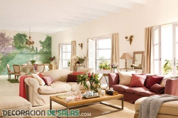 Crea un salón fresco y con mucha luz