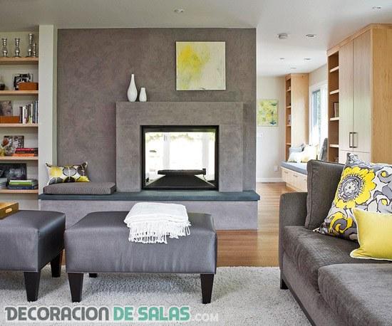 ¿Te decantarías por el color gris para tu salón?
