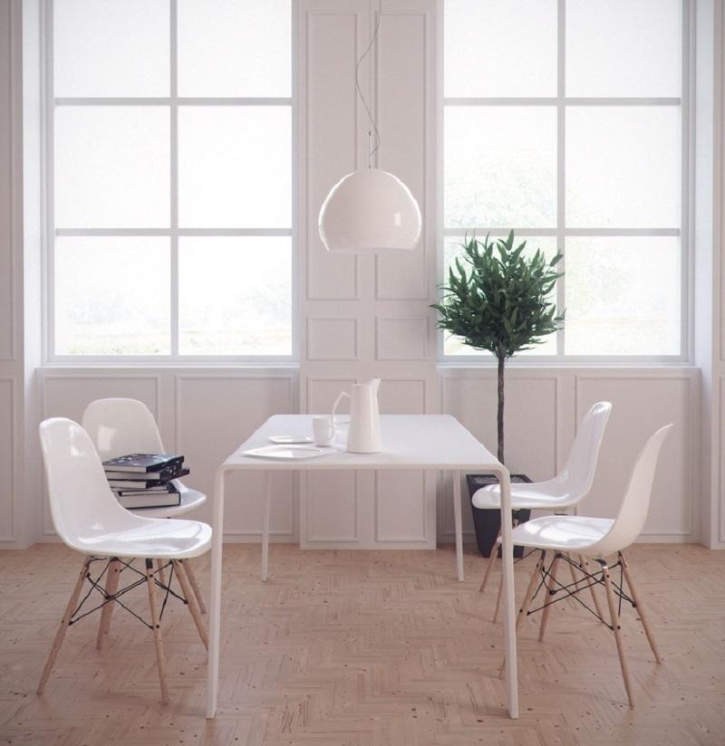 Salón con estilo minimal