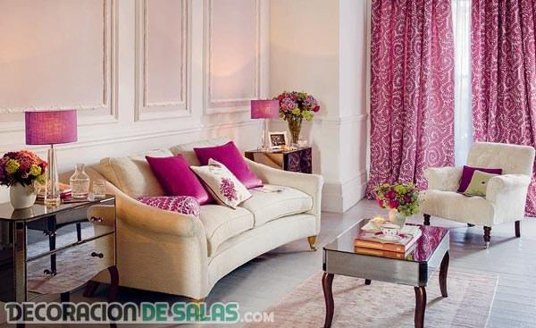 Decoración de salas en colores modernos