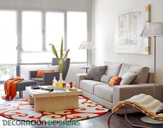 Un look moderno para las salas pequeñas