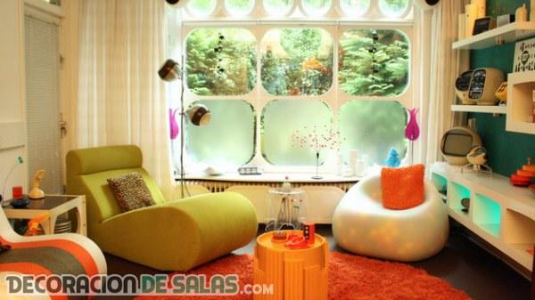 Inspiración retro para unos salones modernos