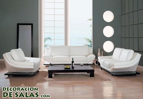 Decoración minimalista en salones muy elegantes