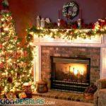 Salones decorados con luces navideñas