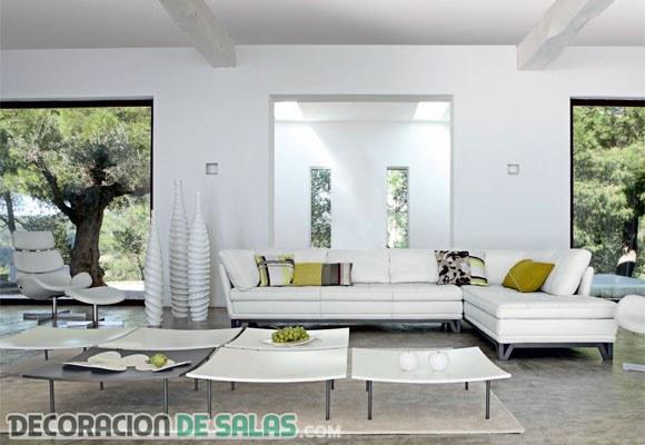 Decora tu salón con un sofá en forma de L