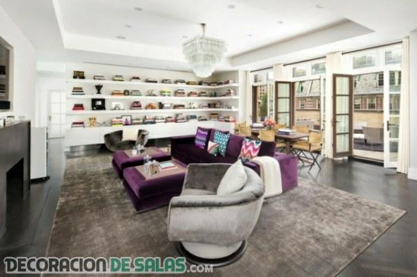 Salones con sofás de terciopelo