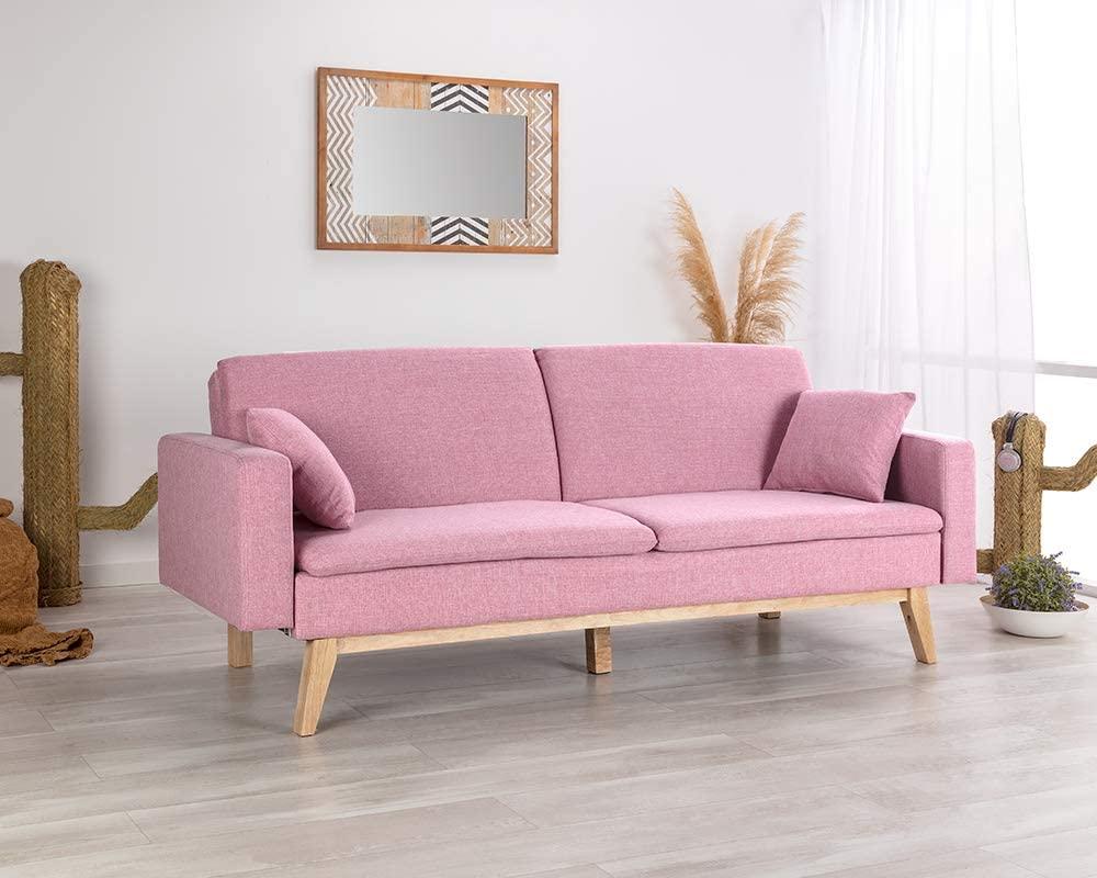 El mejor sofá rosa para tu salón