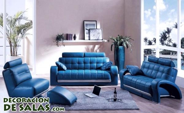 Azul también para el salón