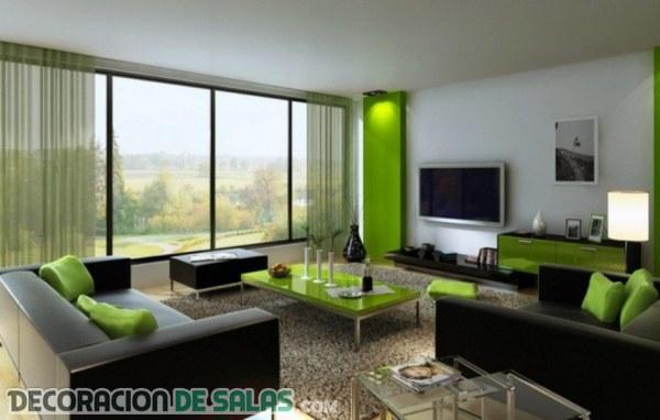 El sofá en color negro