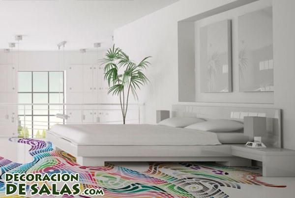 Decorando con suelos de colores y otros detalles