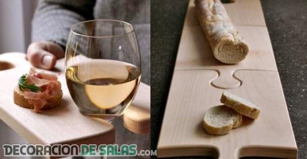 Tabla de madera puzzle