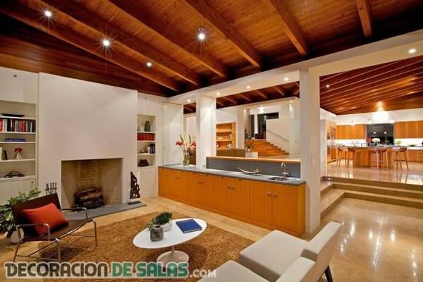 Los techos de madera y su belleza en los interiores